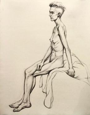 Nude girl line study 2