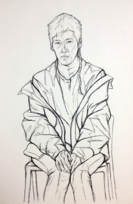 Line Study with Clothes 1
